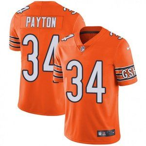 Bears Walter Payton Orange Jersey
